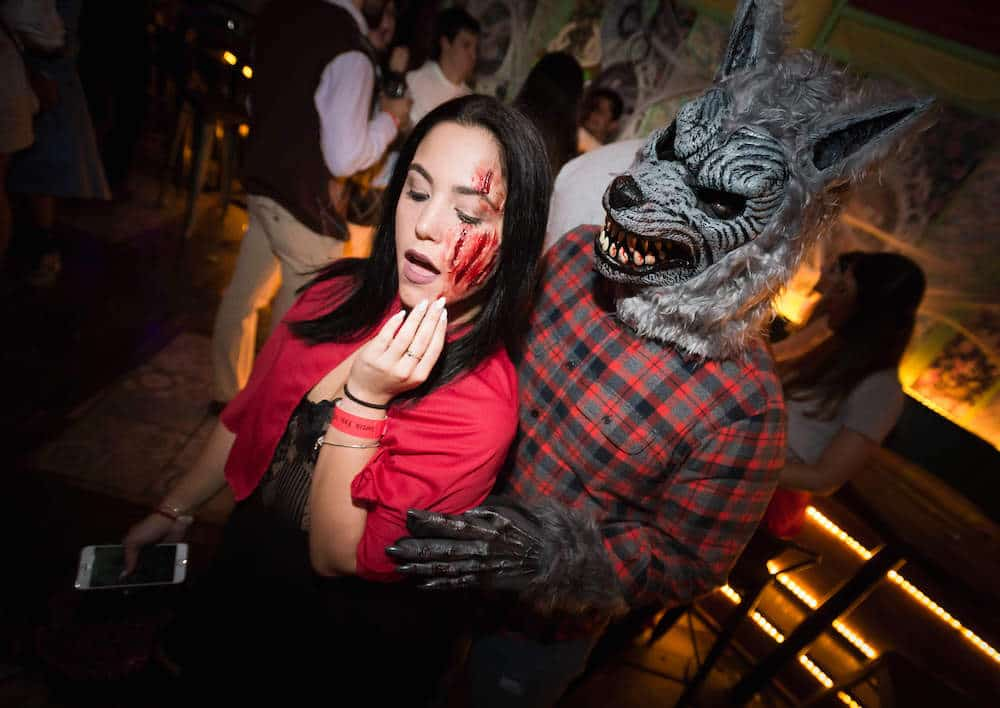 Picture of costumed guests at our 5th Annual Monster Bar Crawl.