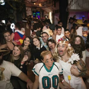 Image of group of people at the Monster Bar Crawl.