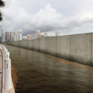 Featured image for an article showing the Army Corps of Engineers proposed sea wall.