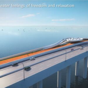 This is a rendering of the Rickenbacker Causeway renovation being proposed by Miami-Dade County.
