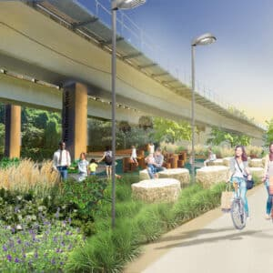 This is a rendering of Phase 2 of The Underline Park