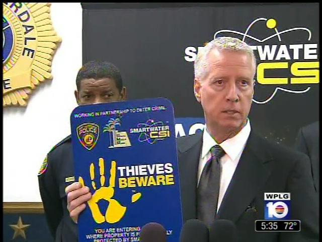 ABC TV coverage - SmartWater CSI Forensic Technology introduced to the U.S.