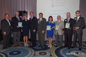 Award recipients with Greater Fort Lauderdale Chamber board chair Chuck Mohr and president, Dan Lindblade.