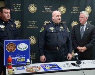 Boynton Beach Police Chief Jeffrey Katz explains the positive crime fighting results residents can expect from the introduction of SmartWater CSI.