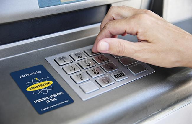 smartwater, atm, cashpoint, forensic, security