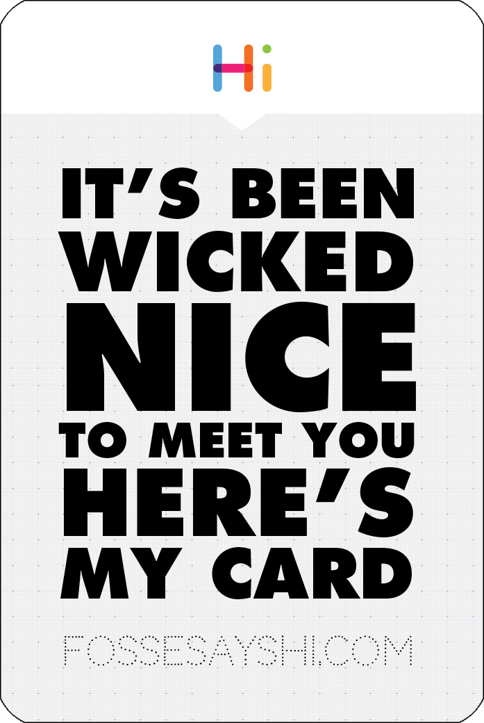 FOSSE CARD VERT YES