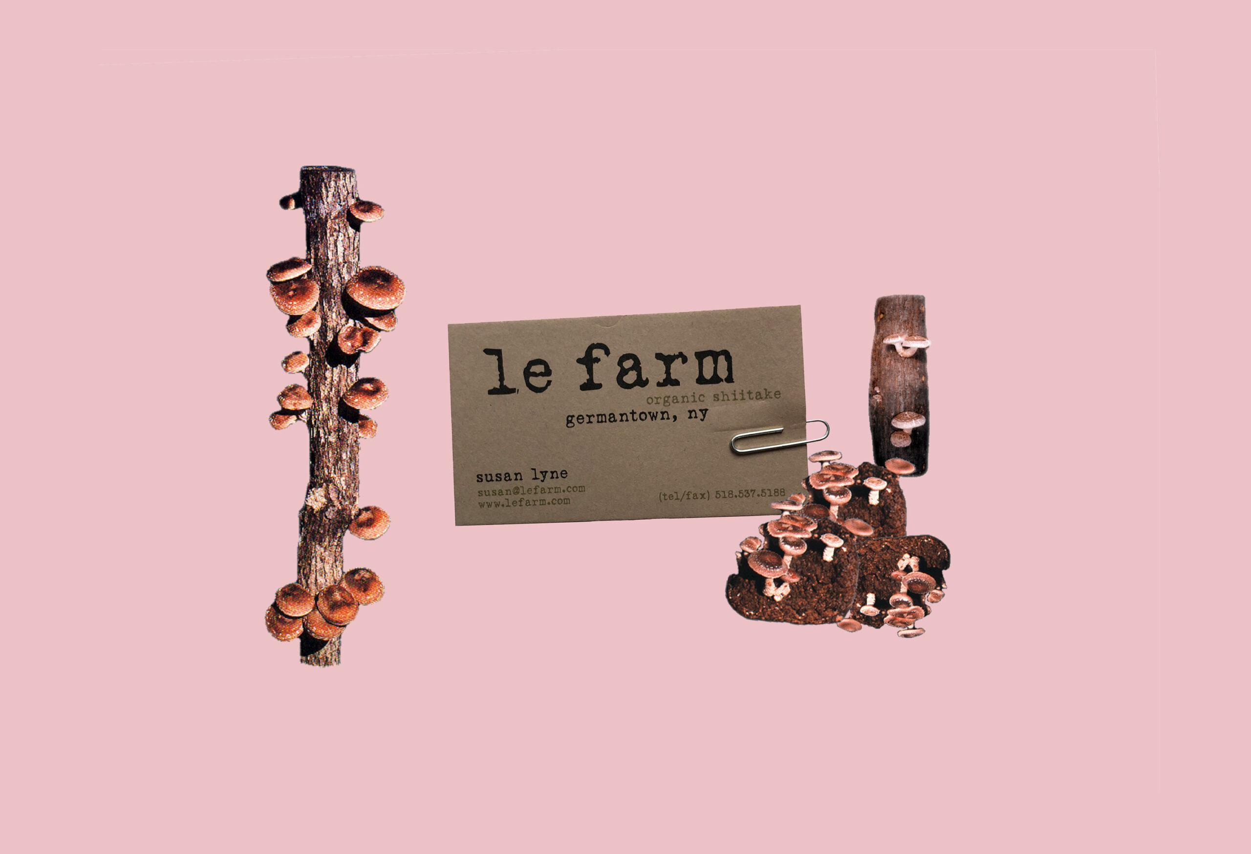 LE FARM BUSINESS CARD hero logs