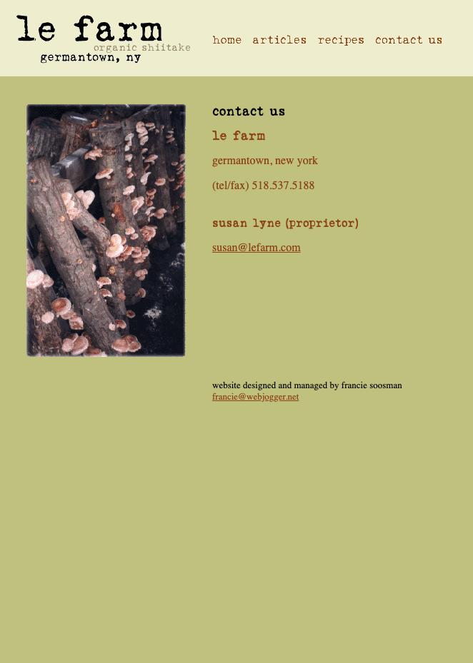 LE FARM HTML CONTACT