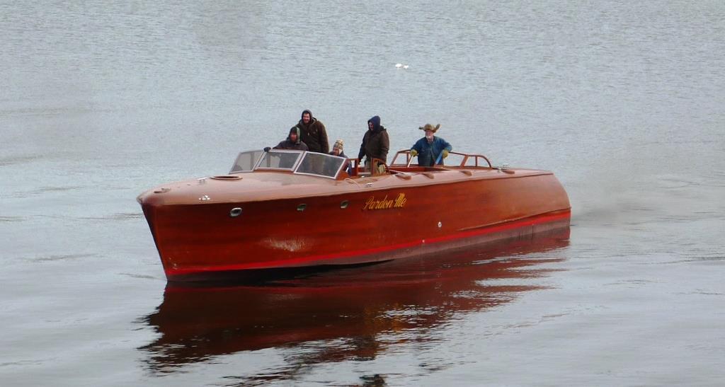 Sea Trials for Pardon Me, Brooklin Boat Yard