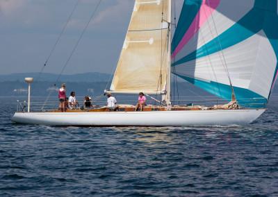 Sailing Vortex, a Swede 55, Racing Sloop, Brooklin Boat Yard
