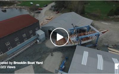 Aerial Footage of Brooklin Boat Yard