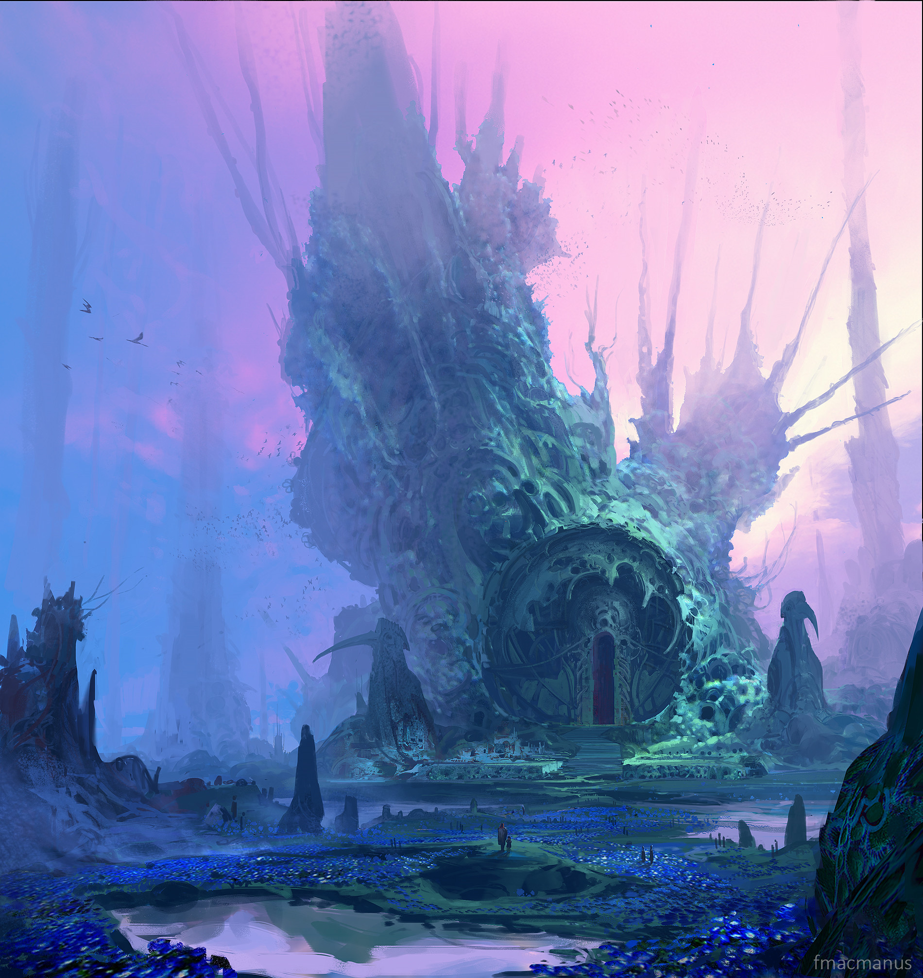 traditional religious ancient coral structure worldbuilding design photoshop