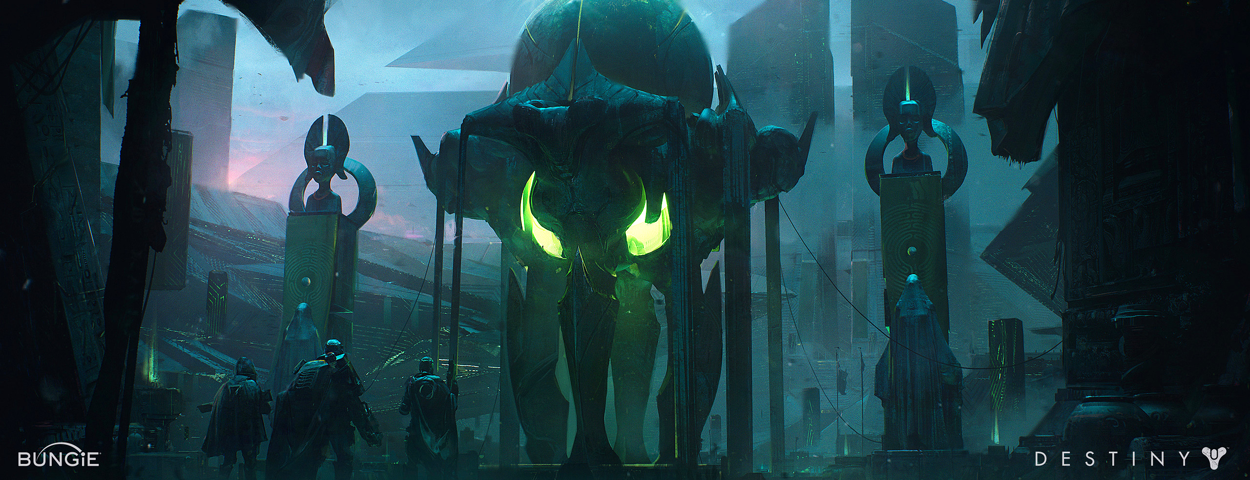 bungie fantasy scifi alien worldbuilding design photoshop
