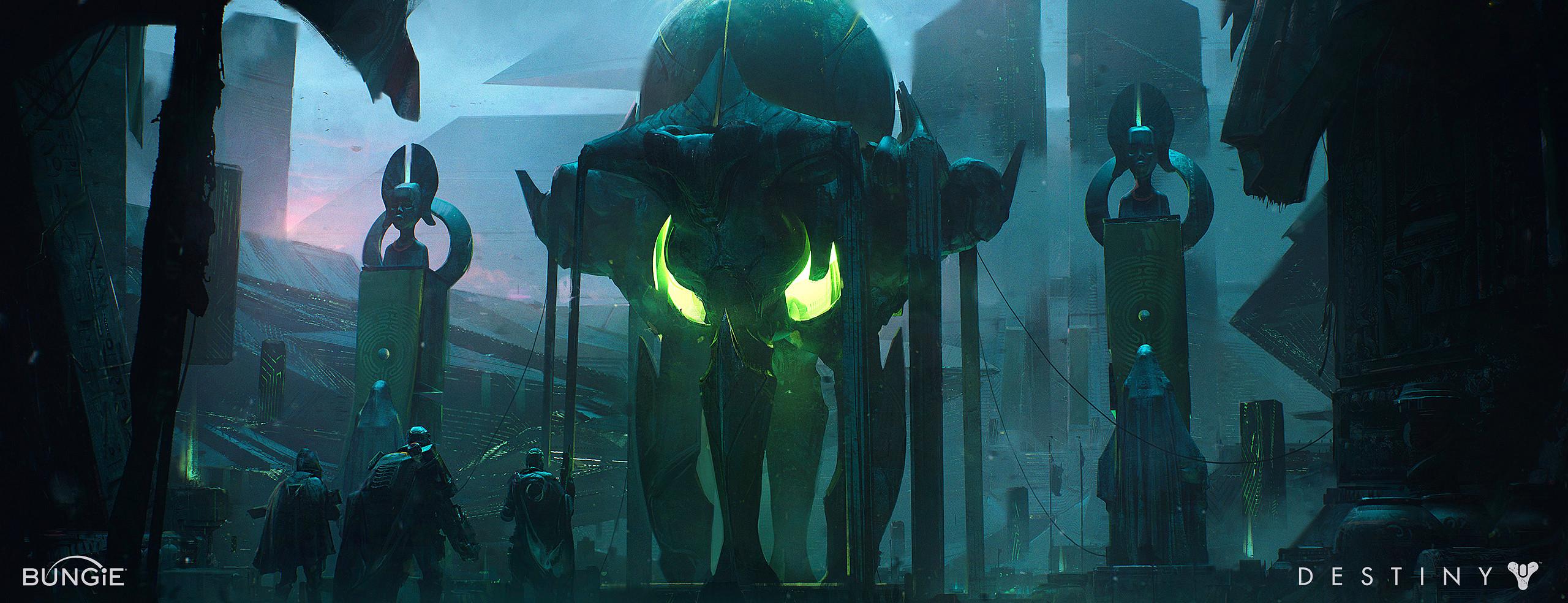 bungie fantasy scifi alien worldbuilding design photoshop