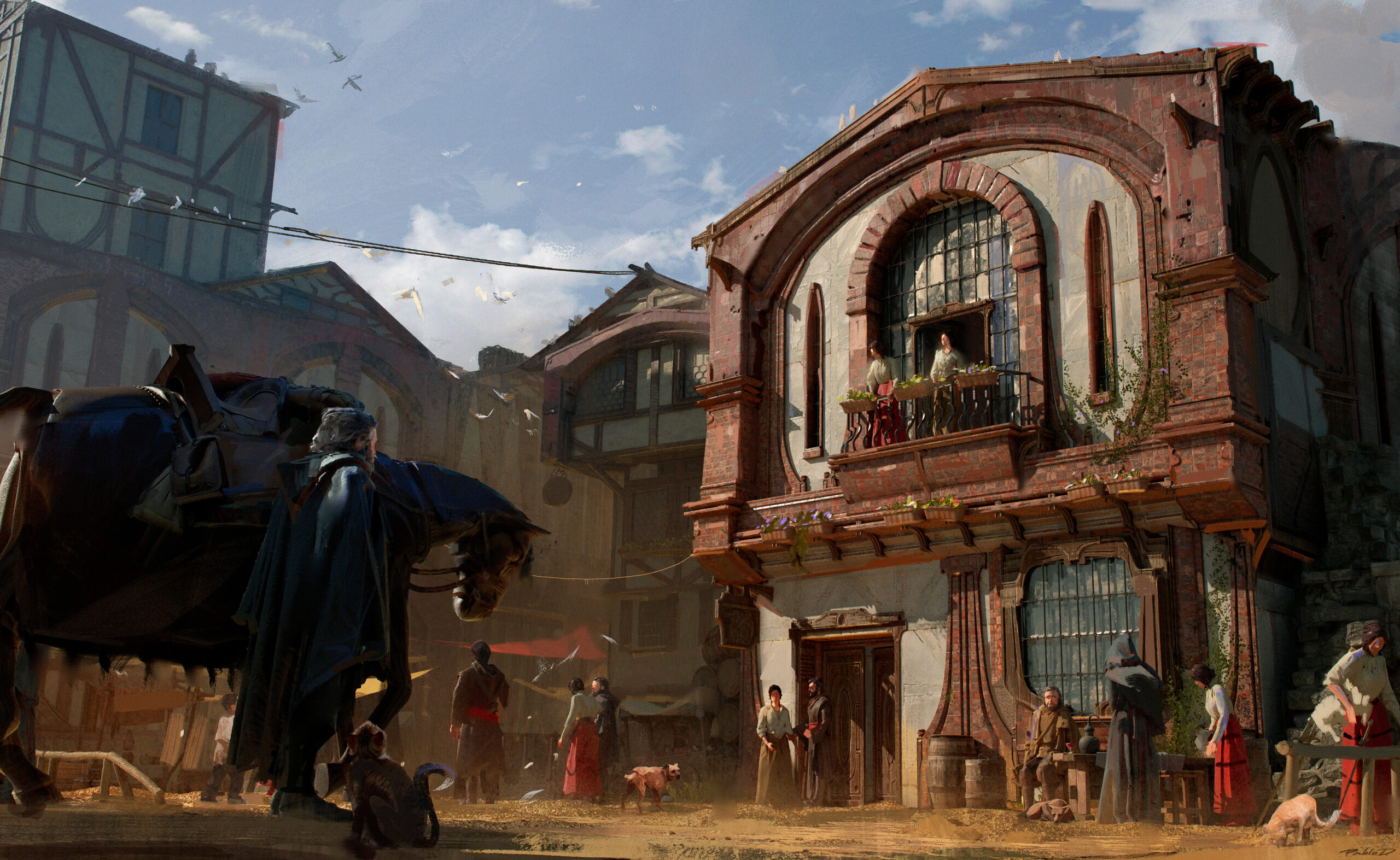 Personal Painting Fantasy architecture medieval concept worldbuilding design zbrush photoshop