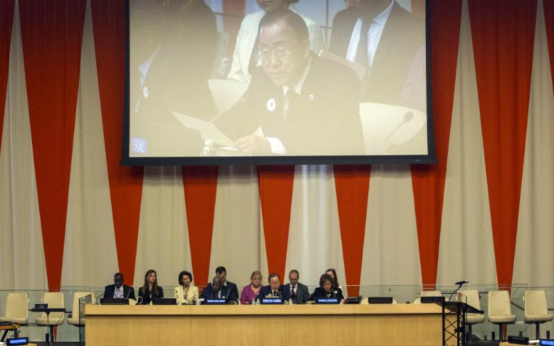 Stalna predstavnica Bosne i Hercegovine pri Ujedinjenim narodima ambasadorica Mirsada Čolaković na centralnoj komemoraciji u povodu obilježavanja 20. godišnjice genocida u Srebrenici u sjedištu UN-a u New Yorku