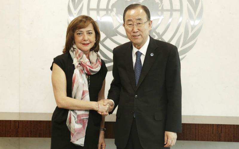 Stalna predstavnica Bosne i Hercegovine pri UN-u, ambasadorica Mirsada Čolaković bila u oproštajnoj posjeti kod generalnog sekretara UN-a Ban Ki-moona