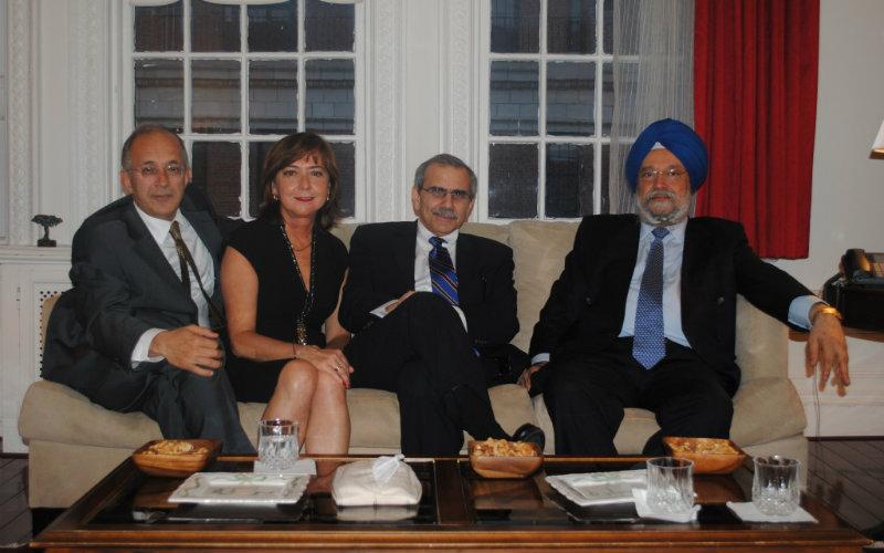 H.E. Mr. Yaşar Halit Çevik, Turkey, H.E. Mr. Nawaf Salam, Lebanon and former Permanent Representative of India H.E. Mr. Hardip Puri