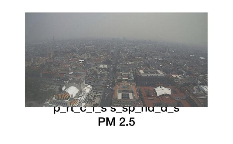 partículas suspendidas 2.5 pm cdmx