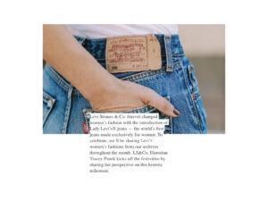 vogue levis historia pantalones mujer 501