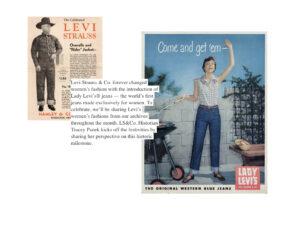 vogue levis historia pantalones mujer publicidad