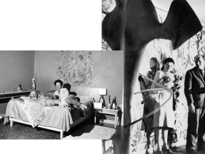 Peggy Guggenheim en su habitación