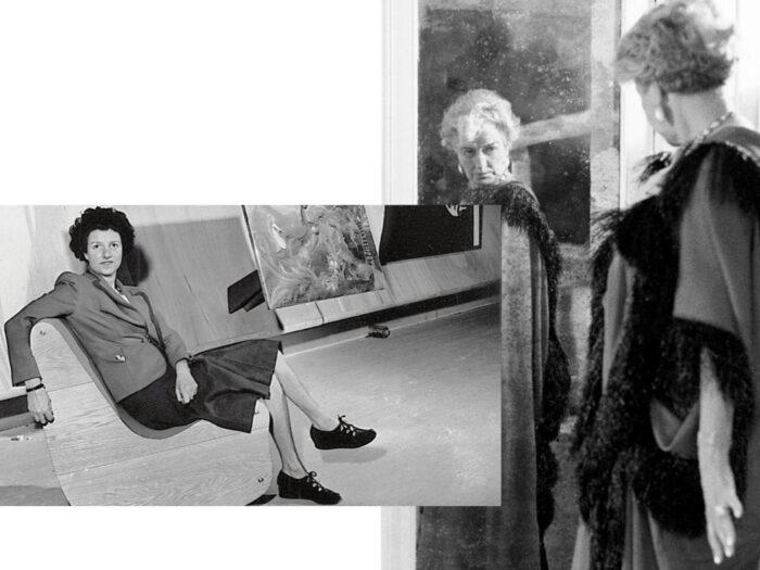 Peggy Guggenheim frente al espejo