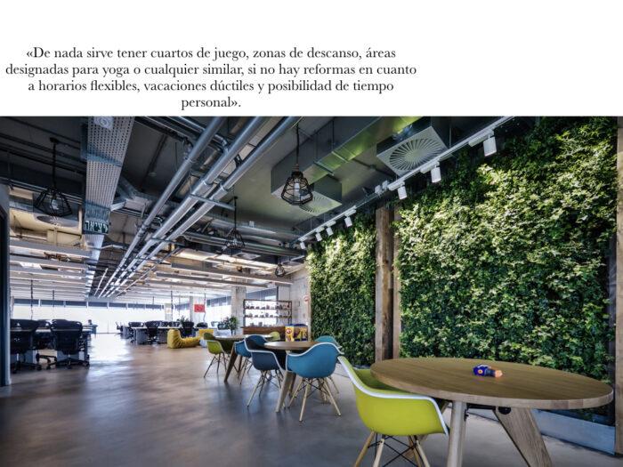 Trabajos millennial y oficinas