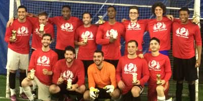 coaches soccer league champions