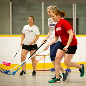 Adult floorball. Men's and Women's