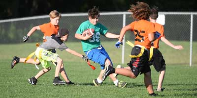 flag football sack