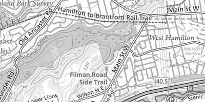 Wentworth Arenas topographical map