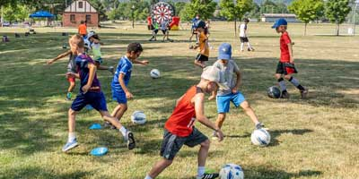learn to dribble on Target Soccer camp