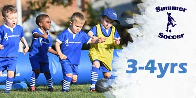 summer soccer ages 3-4yrs