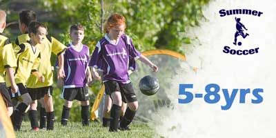 summer soccer ages 5-8yrs