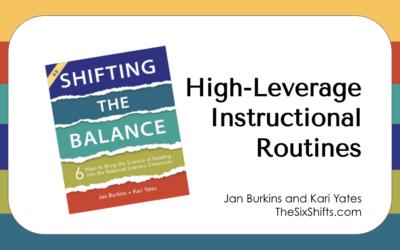 Instructional Levers for Making Work Easier