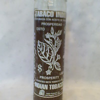 Free Candle Spells   Brown Indian Tobacco Candle for Prosperity