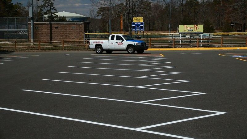 line striping parking lots