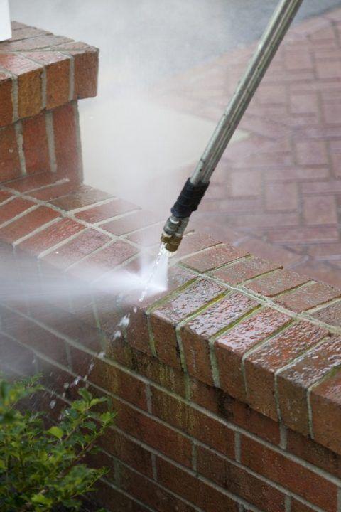 Power washing preparation - sweeping.com