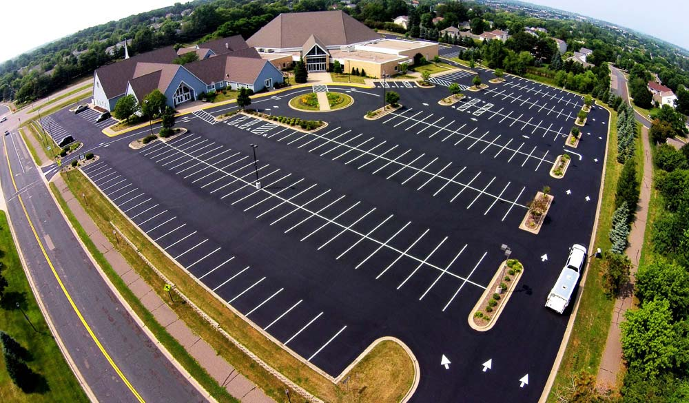 repair your shopping center parking lot with C&L Services