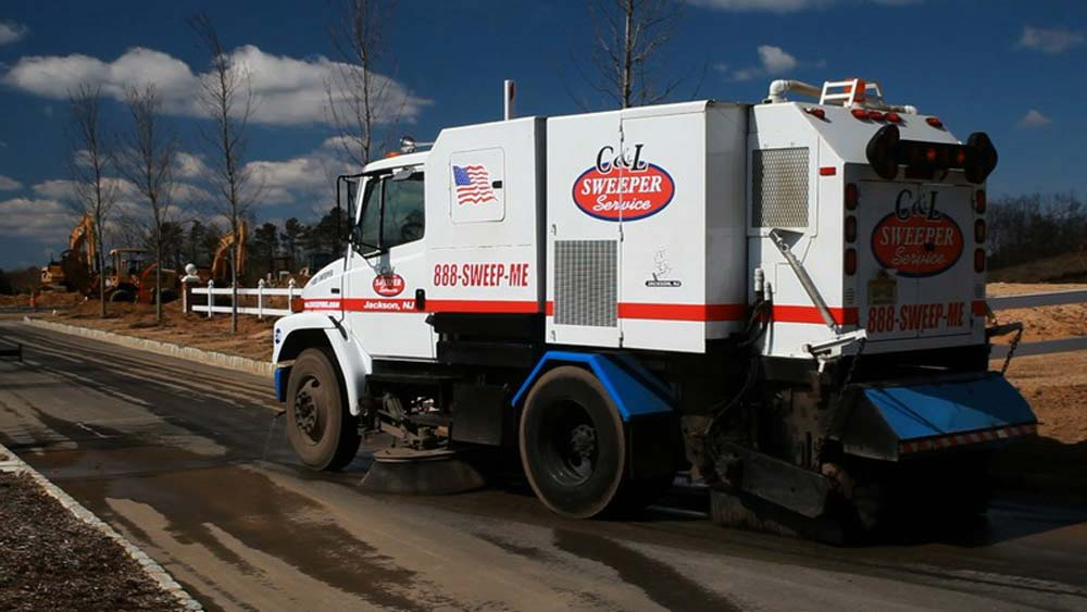 construction street sweeping services by C&L