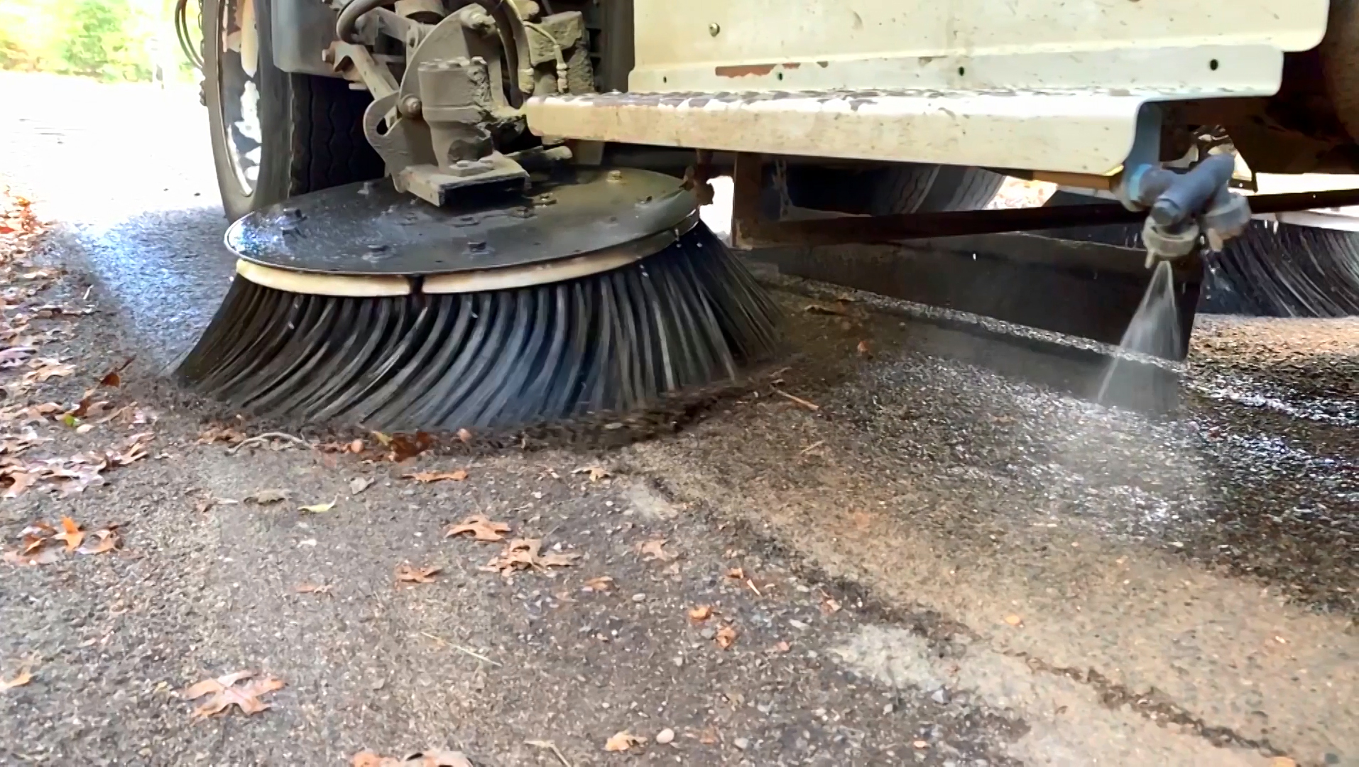 street sweeping is one of the many spring clean up services offered by C&L Services