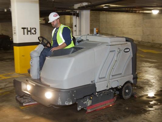 parking garage scrubbing services - C&L Services