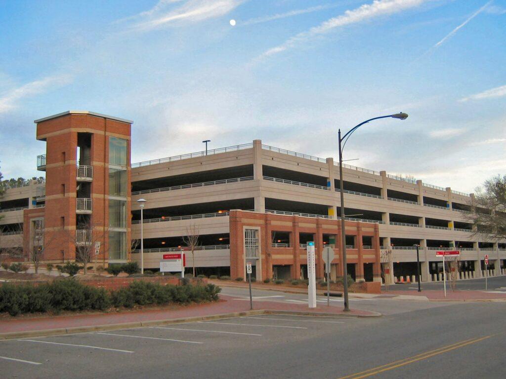 we scrub parking decks and parking garages - parking garage scrubbing services