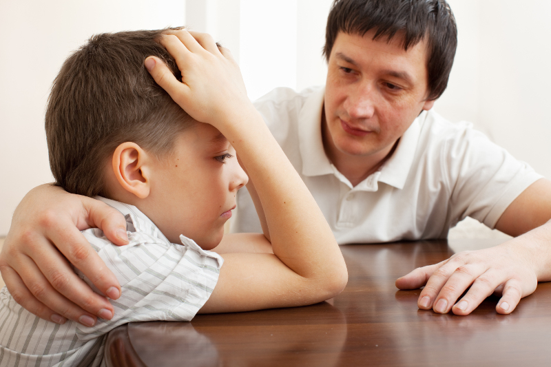 consoling child