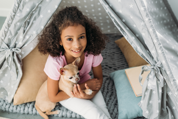 kids and puppies