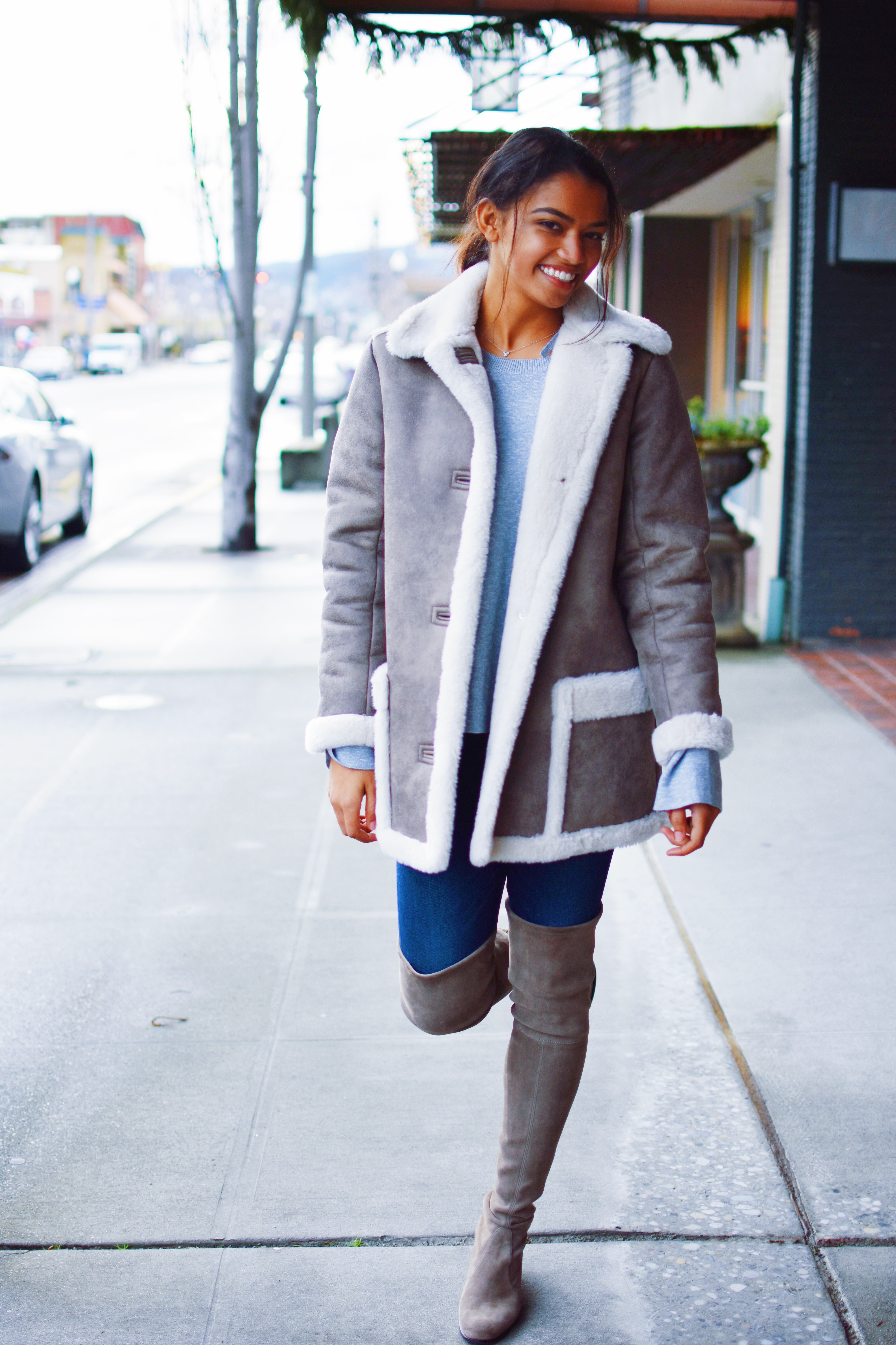 Shearling Coat For Less