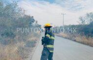 INCENDIO DE PASTIZAL EN MONTEMORELOS MOVILIZA A LOS CUERPOS DE AUXILIO.