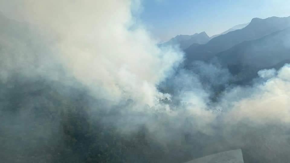 OTRO INCENDIO EN ITURBIDE. PIDEN HELICOPTERO DEL ESTADO.