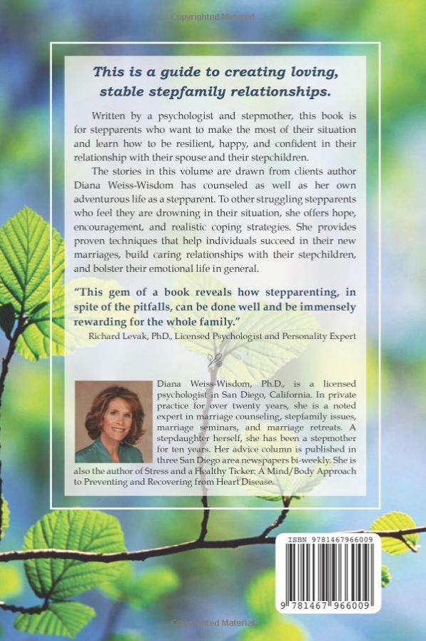 Review of step parent book giving step parenting advice and information from Diana Weiss Wisdom.